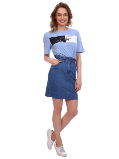 "12885 2 400x533 - Blue hill ""denim skirt"""