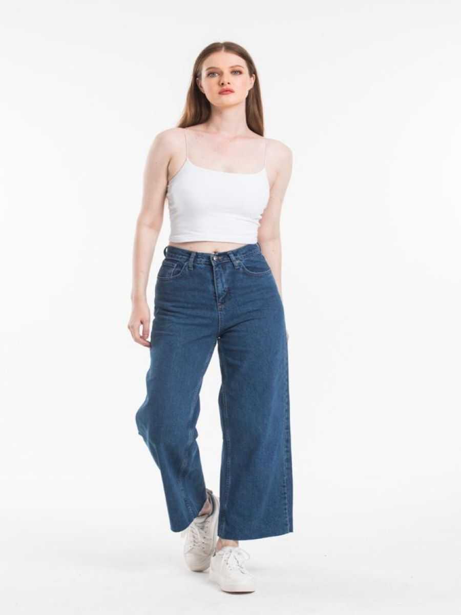 "5193829b 285a 4e2a a3c3 0d672d0a2172 - Blue hill ""wide-leg  jeans"""