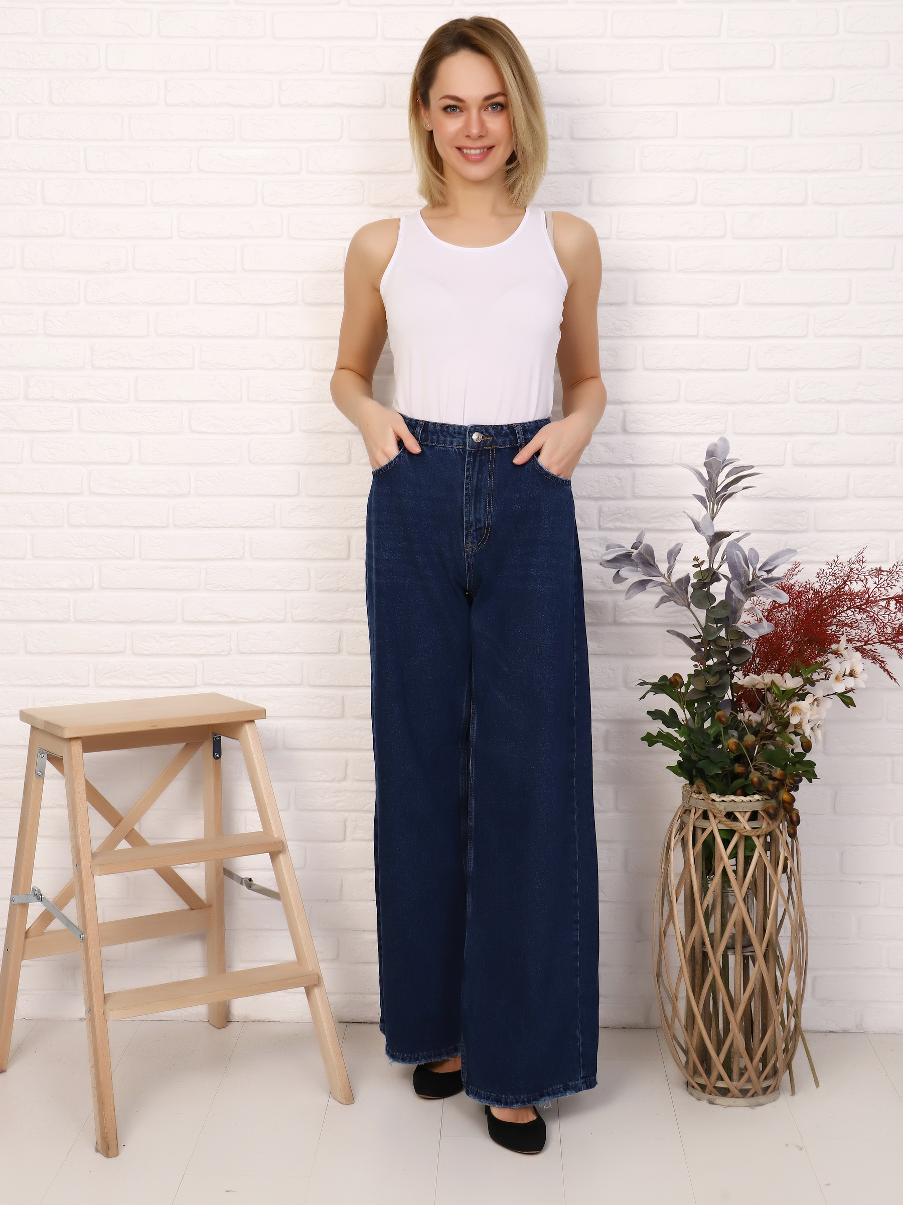 """IMG 5752 - Red Stop """"wide-leg  jeans"""""""