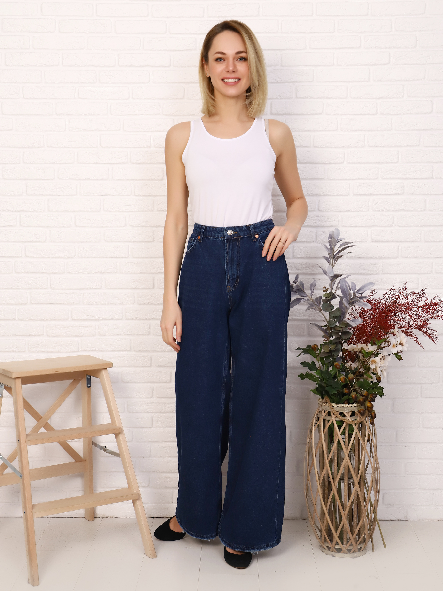 """IMG 5753 - Red Stop """"wide-leg  jeans"""""""