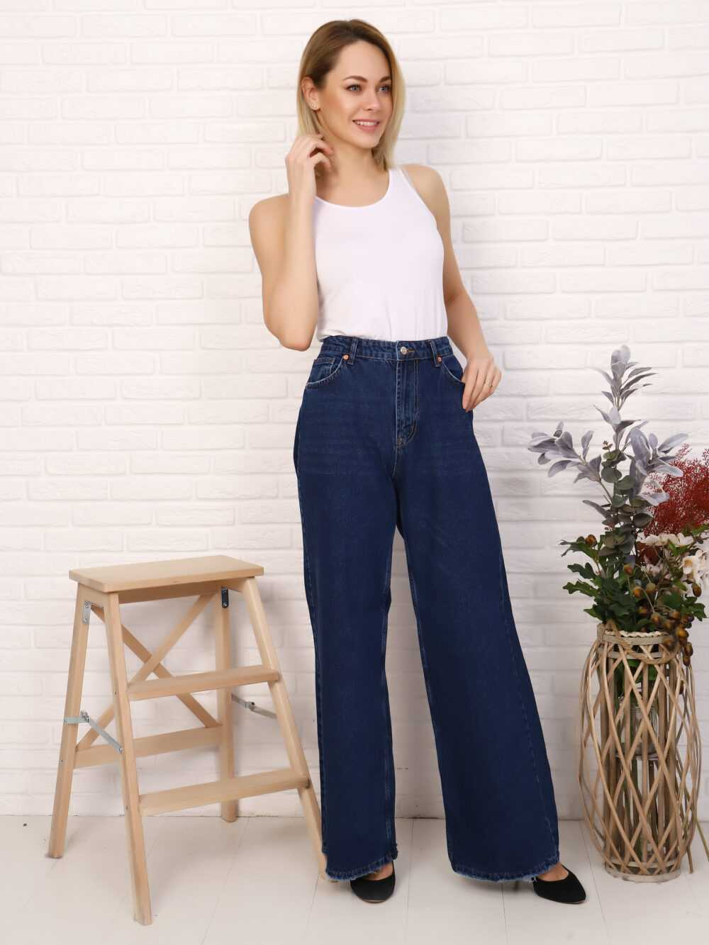 """IMG 5754 1000x1333 - Red Stop """"wide-leg  jeans"""""""