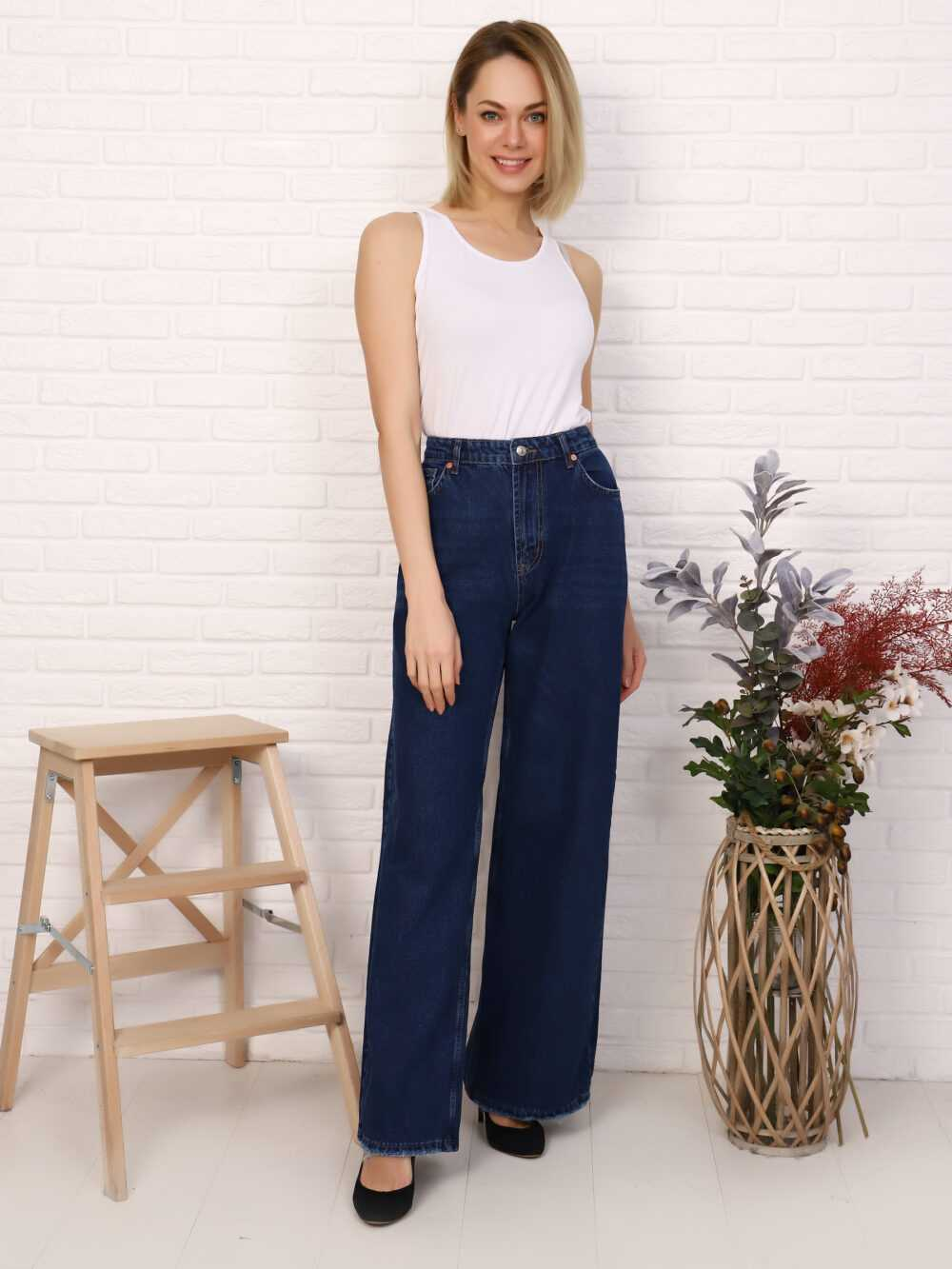 """IMG 5755 1000x1333 - Red Stop """"wide-leg  jeans"""""""