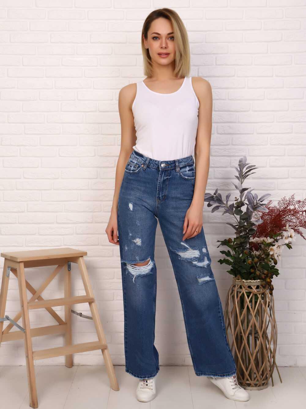 "IMG 5803 1000x1333 - Red Stop ""wide-leg  jeans"" синий"