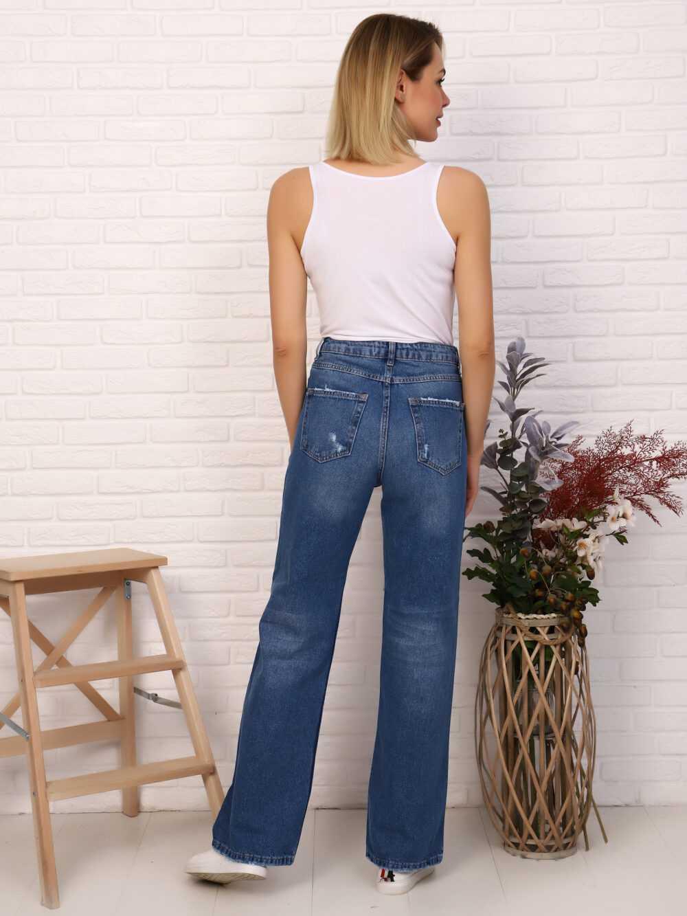 "IMG 5807 1000x1333 - Red Stop ""wide-leg  jeans"" синий"