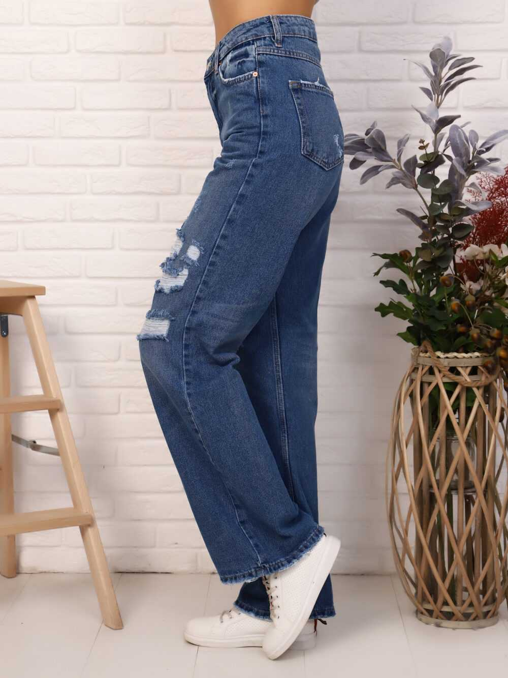 "IMG 5809 1000x1333 - Red Stop ""wide-leg  jeans"" синий"
