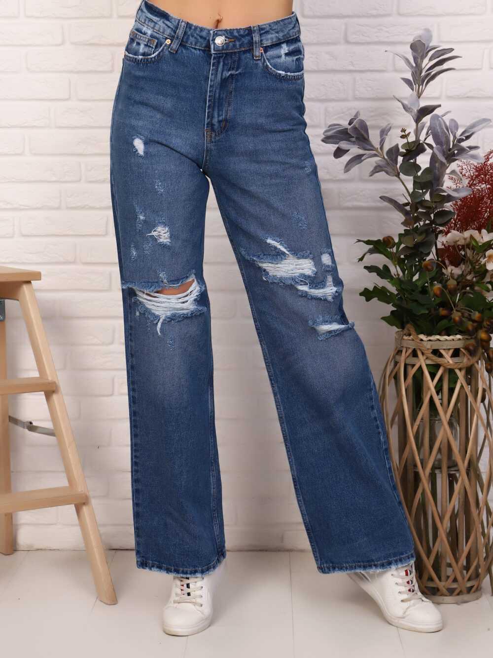 "IMG 5810 1000x1333 - Red Stop ""wide-leg  jeans"" синий"