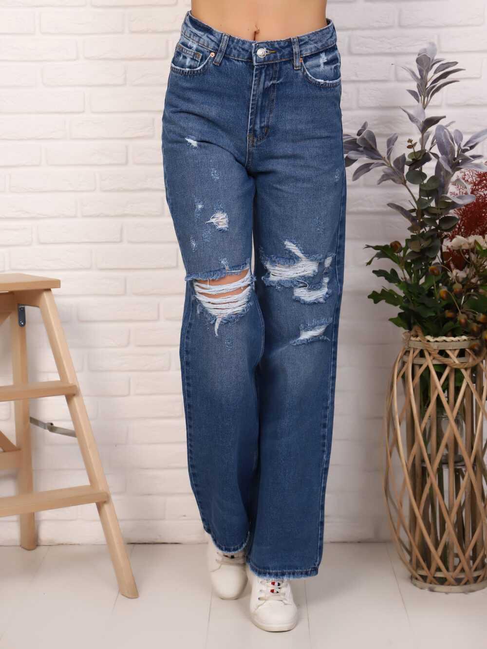 "IMG 5812 1000x1333 - Red Stop ""wide-leg  jeans"" синий"