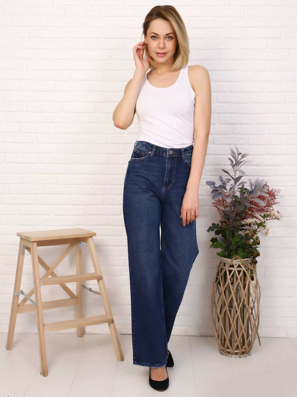 """IMG 5815 1000x1333 - Red Stop """"wide-leg  jeans"""""""