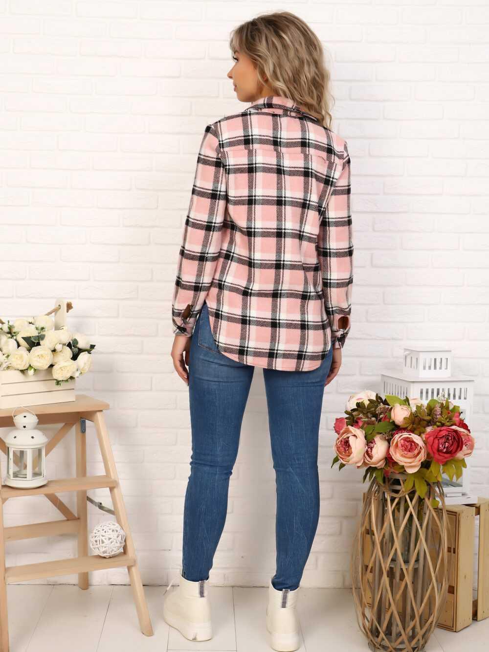 """IMG 7081 1000x1333 - Blue Hill """"Shirt"""" розовая клетка"""